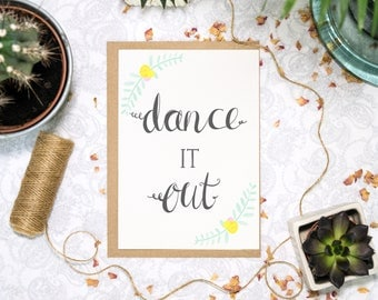 Grey's Anatomy Card | Dance It Out | Meredith Grey and Christina Yang | Dance Card | You Got This | Thinking Of You | Best Friend Card |