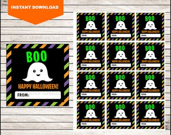 Boo Thank You Tags - Halloween Tags - Halloween Favor Tags - Halloween Gift Tags - Halloween Labels - Halloween Treat Tags