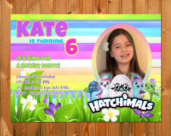 HATCHIMALS BIRTHDAY INVITATION - Hatchimals invitation, Hatchimals party, Hatchimals custom invite, Printable Digital File