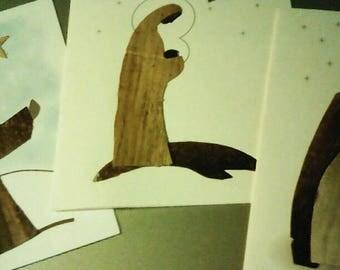 Set of 3 Handmade Christmas Cards