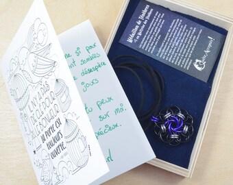 Ensemble Médaillon des Ténèbres et carte de voeux personnalisée - deuil dépression aider un ami - jeux de rôle donjons dragons pathfinder