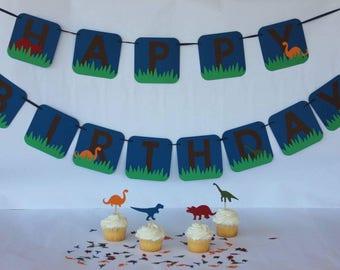 Dinosaur Birthday - Dinosaur Birthday Party - Dinosaur Party Supplies - Dinosaur Birthday Set - Dinosaur Decorations - Dinosaur Banner