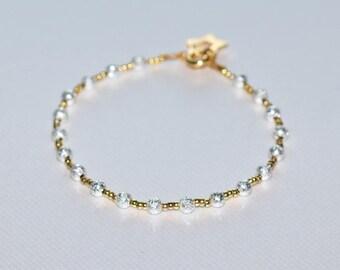 Shiny bracelet gold plated beads