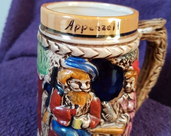 China Beer Tankard, Appenzell. Good vintage condition, 12 x 12cm