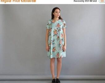 Summer loose dress, Loose cotton dress, Swing dress, Maternity dress, Maternity gown, Summer short dress, Short dress blue, Silk dress blue
