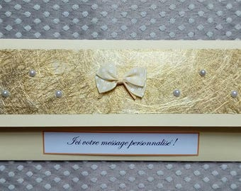 Pocket gift packaging to check or money PCH0003 gold and pearls