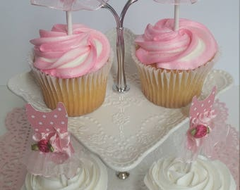 12 Ballerina Cupcake Toppers, Ballerina Dress, Ballerina Decoration, Ballerina Cupcake Toppers, 12 set
