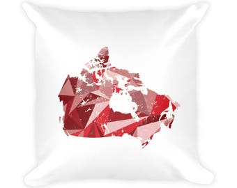 "CANADA Pattern Map Pillow 18""x18"", Canada Map Print, Canada Art, Canada Gift, Canada Decor, Canada Print, Canada Home Decor, Canada, Map Art"