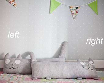 Pillow cat Pillow Cushion Fanny pillow Decorative pillow Soft toy Kids gift idea Cat pillow Cushion cat Knitted cushion cat pillow