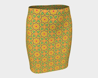Sunshine Fancy Fitted Skirt