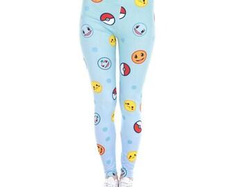 Pokeballs and Pokemon Leggings