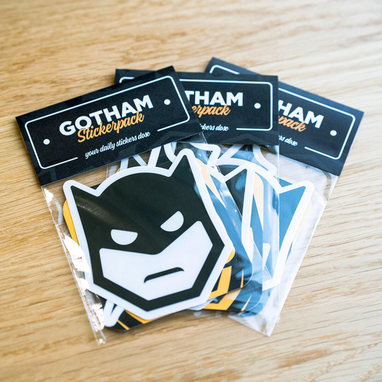 GOTHAM Stickerpack Cool Stickers Laptop Stickers Batman - Vinyl stickers for laptops