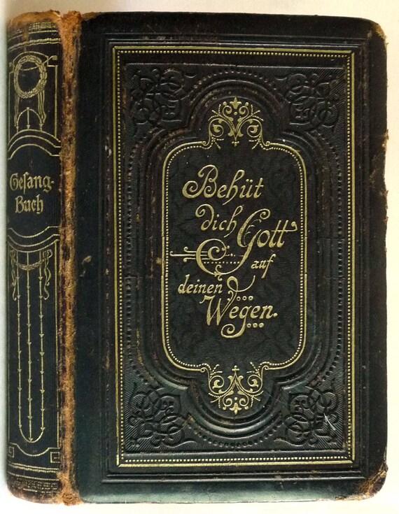 Gesangbuch fur die evangelische-lutherische kirche in Bayern 1914 Antique German Language Hymn Book - Lutheran Christian Religion
