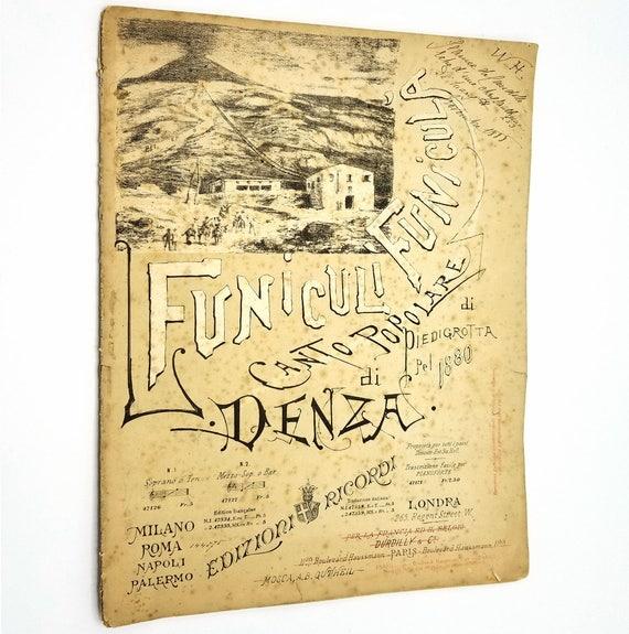 Funiculi Funicula Canto Popolare di Piedigrotta di Luigi Denza 1888 Edizioni Ricordi - Sheet Music - Milan Italy