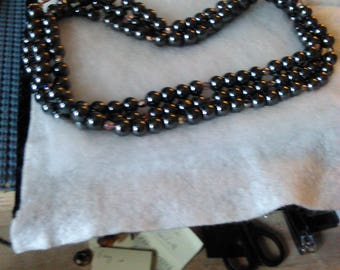 NEW Magnetic Hematite beaded neckwear
