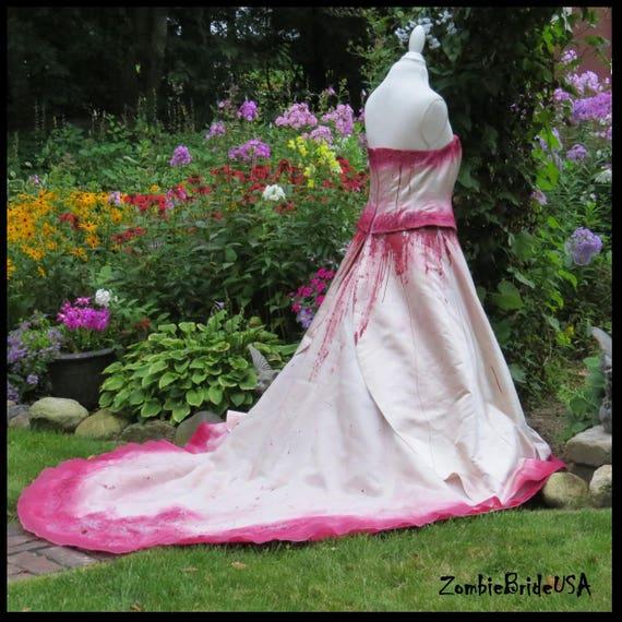 Items similar to plus size bloody zombie wedding dress for Halloween wedding dresses plus size