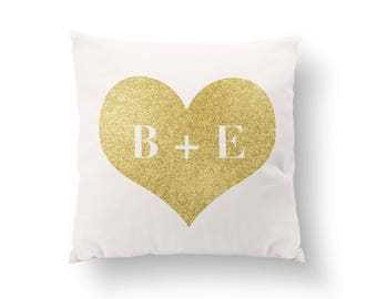 """Personalized Throw Pillow - Personalized Pillow Cover - 18"""" - 18x18 - Custom Throw Pillow - Custom Pillow Cover - Valentines Day Gift  001"""