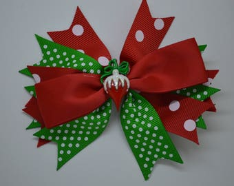 Christmas Ornament - Hair Bow Clip -10cm