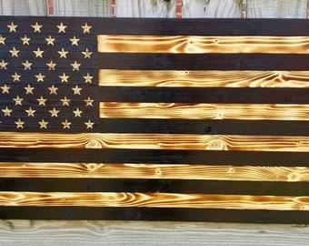 Charred Wood Flag, American Flag, Wood Flag, Wooden Flag, Burnt Flag, Wood American Flag, Burnt Wood Flag, Rustic Flag, American Flags