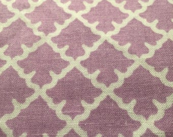 Purple and white  repetitive bandana