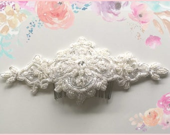 Bridal comb, wedding hair accessory