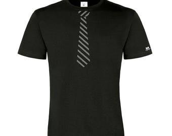 Humorous T-shirt sleeve short round neck (Mister tie)