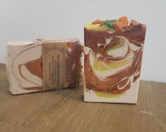 Hot Apple Cider Soap - natural soap -  swirled soap - piped top soap - fall soap - handmade soap - cold process soap -
