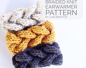 Braided Cable Knit Earwarmer Pattern