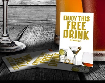Drink Coupons / Tickets - Holiday or Company Party, Wedding, Shower, Events - DRCP_05