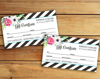 Rodan + Fields Gift Certificate Business Card - Digital File - Rodan + Fields  - Immediately available after your purchase