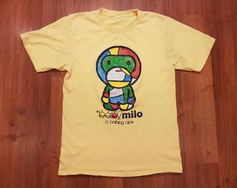 Bape t shirt, Baby Milo Shirt, Bathing Ape Shirt, Womens Size M