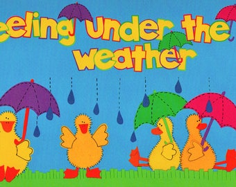 Sick Feeling Under Weather Title Over-alls Page Topper 6x12 Title Scrapbooking Scrapbooks Ek Success Embellishments Cardmaking Crafts
