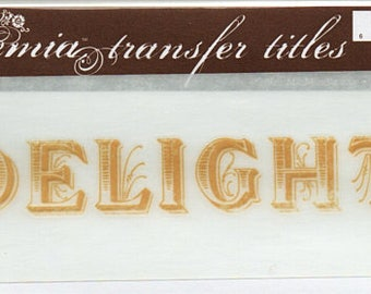 Delight Title Rub On Transfer Embellishments Cardmaking Crafts My Mind's Eye Bohemia
