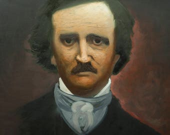 Edgar Allan Poe - Oil Painting