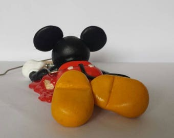 Sticky Mouse - handmade polymer clay figurine sculpture (inspired by Mickey Mouse of Disney)