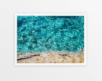 Ocean Print, Waves, Water, Coastal Wall Decor, Beach Art Poster, Printable Art, Digital Download, Modern Minimalist, Scandinavian Print
