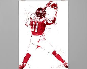 Julio Jones Atlanta Falcons art print Football poster Sports wall art Modern art print Living room wall decor Contemporary art PRINT #0099