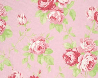 SALE! Tanya Whelan - Lulu Roses - Pink - Lulu - Free Spirit - Shabby Chic Fabric - Tanya Whelan Fabric - Lulu Roses - Floral Fabrics by Yard