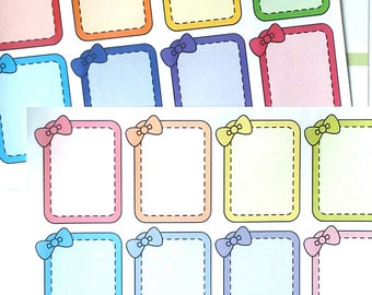 Hot Summer Nights Sale: Cute Bow Full Boxes, Planner Stickers