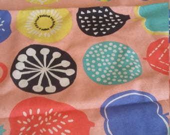 Sevenberry Japanese Fabric 54cm x 150cm salvaged single piece vintage fabric repurpose recycle fruit polka dots abstract kiwi apple berry