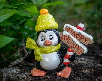 Holiday Greetings Penguin