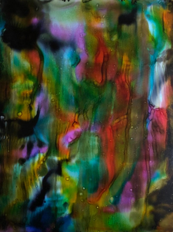 """Original Alcohol Ink Abstract """"In A Dream"""" (11"""" X 14"""")"""