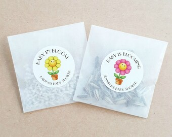 Personalised Seed Packet Flower Favours Weddings Baby Showers Bomboniere Bridal Bonbonniere Sunflower Daisy x 20