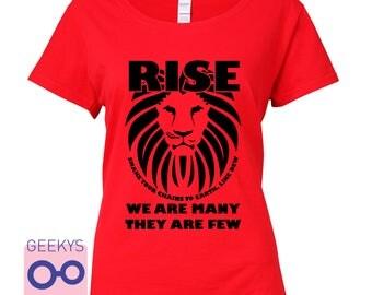 RISE like LIONS - british politics inspired Tshirt.  jeremy corbyn labour socialism inspirational Percy Bysshe Shelley trade union war