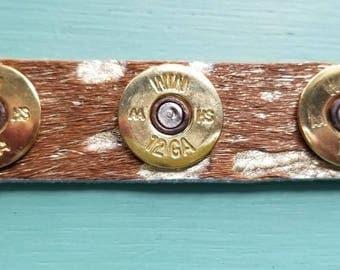 12 Guage Leather Bracelet