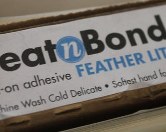 Heat N Bond - Feather Lite paper backed adhesive activated by heat