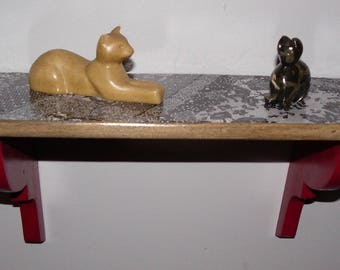 Vintage small wooden shelf