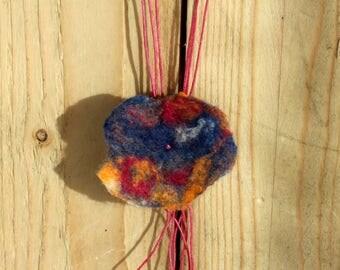 Necklace  Woollen flower shade Indian