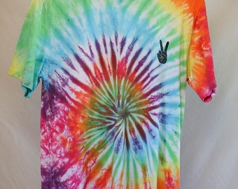 25% OFF ENTIRE SHOP Adult Size Medium - Ready To Ship - Unisex - Festival - Pastel Tie Dyed - T-shirt - 100 Percent Cotton - Free Shipping w
