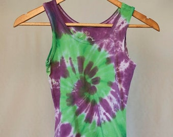 25% OFF ENTIRE SHOP Girls Size 10 Singlet - Beach - Festival - Ready To Ship - Tie Dyed - Fashion - 100 Percent Cotton - Free Shipping withi